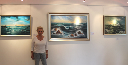 An Exciting Marine Artist....but so much more to see at the Knapp Gallery