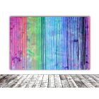 120x80x4 cm Melted Rainbow