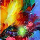 """""""Sunset and Flowers"""" smail painting"""