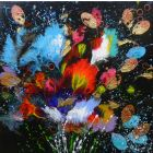 """""""Flowers Of The Night""""  Small Painting"""