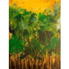 Spring birds in the Greenwood - original painting on box canvas