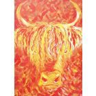 Fiery Highland Cow