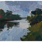 Runnymede, Thames, an original painting for sale.