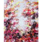 Tahiti Sunset - Large abstract red painting