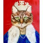 Cat Queen , feline art for cat lovers