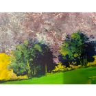 Yellow Acres - original oil painting within a mount