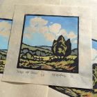 'Across the Fields' Limited Edition Landscape Lino print