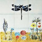 Bespoke hand painted decorative tile mural
