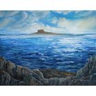 Bamburgh from the Farne Islands