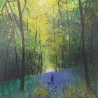 Seasons - Spring Stroll through Bluebells with the dog