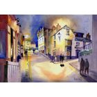 Broadstairs, Harbour St by night. Kent