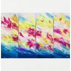 Multi panel abstract oil painting on canvas, modern painting, office wall art, textured art