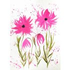 Pink flowers A4 nr 14