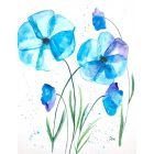 Light Blue flowers illustration