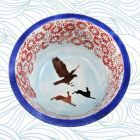 Glazed Ceramic Bowl Hand Painted Large Size