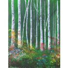 Woodland scene silver lining