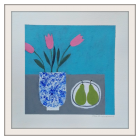 Pink Tulips in a Chinese Vase