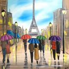 Colourful Paris Umbrellas