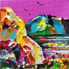 Cumbria Painting - 'Funky Lakeside'