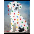 Damien's Dotty, Spotty, Puppy Dawg.  (Blue - On The Daily Telegraph)+ Free Poem.