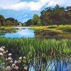 Landscape Painting Temple Water At Castleward