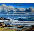 The seascape with clouds