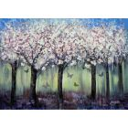 Different Spring 2020 - trees flowers butterflies landscape large painting