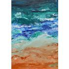 Large abstract seascape - Santorini