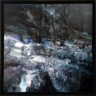 LARGE FRAMED MINDSCAPE DARK BEAUTY ABSTRACT MELANCHOLIA INSIDE OF AN ETERNITY NIGHT BY O KLOSKA