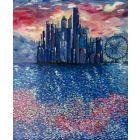 City Limits Large Canvas Painting