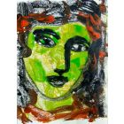 The Face VII - One of a kind Mono Type Print on paper 11