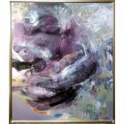 LARGE XXL MASTERPIECE BEAUTIFUL COLORS VIOLET AND GREY MINDSCAPE BY O KLOSKA