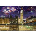 Fireworks Over the Houses of Parliament, London