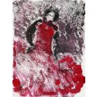 Flamenco Dancer Spanish dancer Mixedmedia on paper