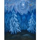Winter Forest original oil painting