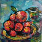 Fragrant Oranges Still Life
