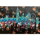 London night skyline abstract painting 112