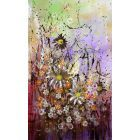 Andra' Tutto Bene #1 - Large original floral painting
