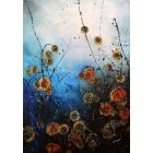 Space Jam - Large original floral abstract painting