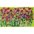 SPRING POPPIES MINIATURE LANDSCAPE PAINTING