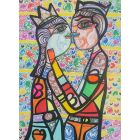 Hugging in love 7 beautiful colorfully love composition Dimisca 60  x 80 cm