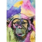 Cheeky Chimp. Watercolour Monkey painting on paper. 29.7cm x 42cm. Free Worldwide Shipping.