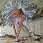 Magic Time III - ballerina painting on canvas