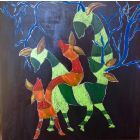 Contemporary Deers -large box canvas ( Sale!  it was £600)
