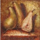 Pears.Painting on small canvas.Gift.