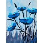 Blue Poppies in a Frame