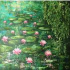 Waterlilies impressionist painting,