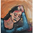 In Thought Expressionist Portrait