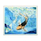 Ceramic Tile Splashback with Koi Carp
