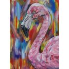 Not A Leg To Stand On. Limited Edition Print. Flamingo print.